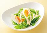 スナップえんどうと卵の明太マヨ