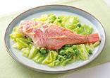 赤魚と春野菜蒸し