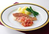 赤魚のムニエル トマトソース