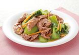 牛肉とチンゲン菜の中華和え