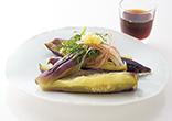 レンジなすの香味野菜のせ