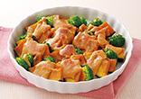 ブロッコリーとなんきんの味噌マヨ焼き