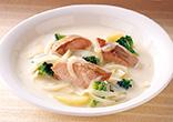 鮭の牛乳みそスープ