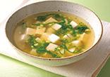 豆腐とかぶの生姜スープ