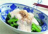 小松菜のとうふソース