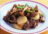 牛肉と長いもの炒め物