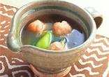 チンゲン菜とえび団子のスープ