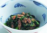 こまつ菜とさんま蒲焼の煮物