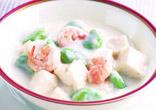 そら豆と豆腐のクリーム煮