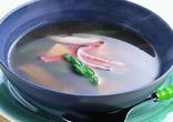 グリーンアスパラと豆腐のスープ