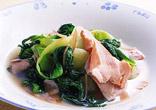 チンゲン菜とハムのスープ煮