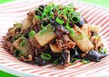 牛肉と長芋の炒め物