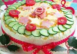 クリスマスサンドイッチケーキ