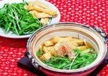 青菜とあつあげの鍋
