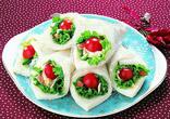 花束サンドイッチ