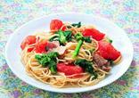 トマトと菜の花のパスタ