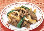 牛肉とたまねぎのカレー炒め