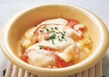 トマトとポテトのチーズ焼き