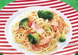 トマトとブロッコリーのスパゲッティ