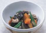 夏野菜と豚肉の煮物