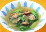 あさりとチンゲン菜のスープ