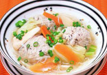 春野菜と肉だんごのスープ