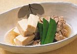 豚肉と高野豆腐の煮物