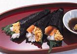 納豆と海鮮の手巻き