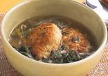 ほうれん草と肉だんごのスープ煮