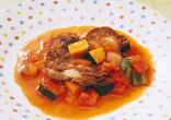 豚肉のカラフル野菜ソース