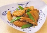 たまねぎと鶏肉の酢じょうゆ煮