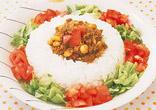 トマトと大豆のドライカレー