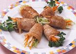 せん切り野菜の豚肉巻き