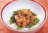 甘えびの中国風ピリ辛丼