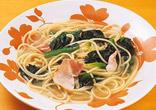ほうれん草のスープスパゲティ