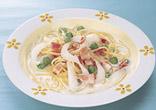 春のクリームスープスパゲッティ