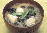 新野菜の味噌汁