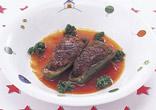 肉詰めピーマンのケチャップ煮
