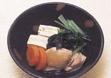 鶏肉と小松菜の煮物