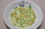 えんどうと白身魚のミルク煮